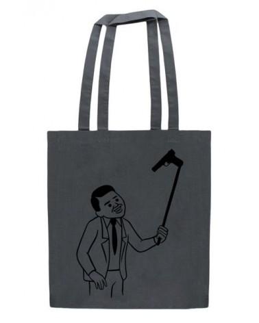 Grey Selfie Tote Bag, Joan Cornellà